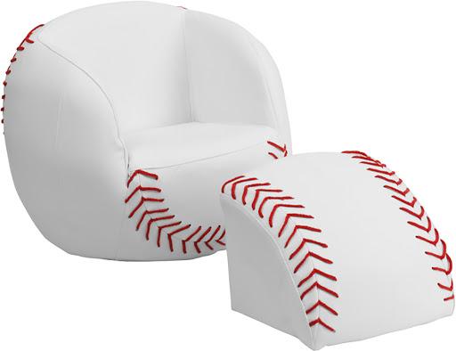 Using the baseball chair